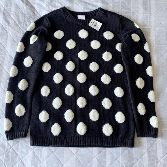 Hanna Andersson Marshmallow Polkadot sweater NWT